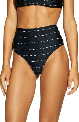 57beb24eaa Vix Paula Hermanny Stripe Dot High Waist Bikini Bottoms