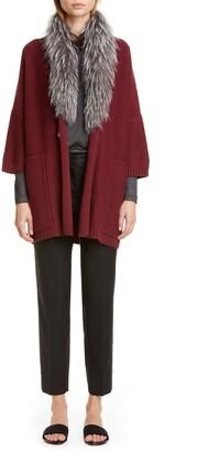 Fabiana Filippi Tulle Collar Silk Sweater