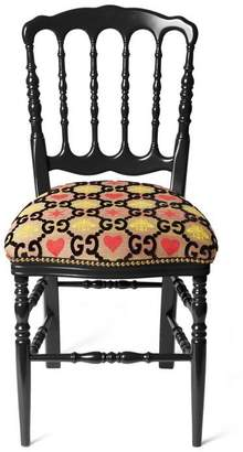 Gucci Wood chair with GG jacquard