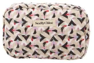 See by Chloe Printed Cosmetic Bag