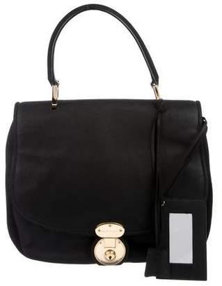 Balenciaga Distressed Suede Saddle Bag