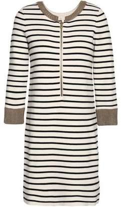 Maje Striped Knitted Mini Dress