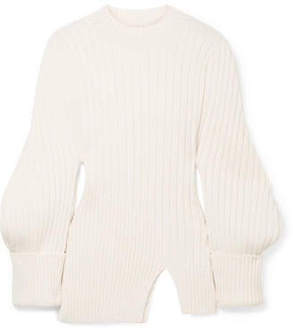 Pablo Ribbed Wool Sweater - Ecru