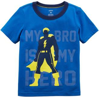 "Carter's Toddler Boy My Bro Is My Hero"" Superhero Graphic Tee"