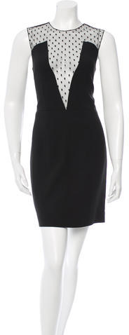 Saint LaurentSaint Laurent Crystal-Embellished Mini Dress
