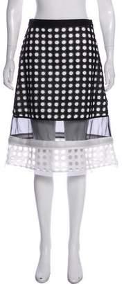 Alexis Eyelet Knee-Length Skirt
