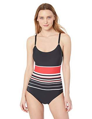 e57f5c5f304 Calvin Klein Women's Over The Shoulder one Piece with Removable Soft Cups