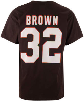 Majestic Men Jim Brown Cleveland Browns Hof Eligible Receiver T-Shirt