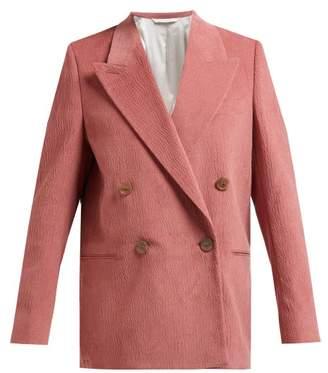 00eb969eea Acne Studios Double Breasted Slubbed Cotton Blend Blazer - Womens - Light  Pink