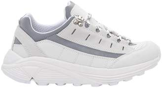 Ganni Iris Sneaker In Leather And Chamois