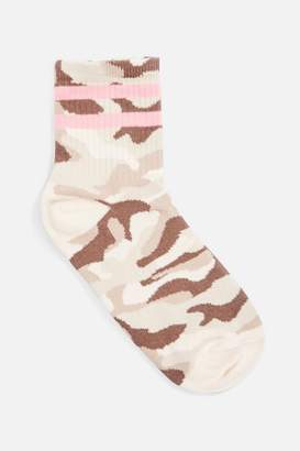 Topshop Camouflage Sporty Tube Socks