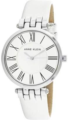 Anne Klein Women's AK-2619SVSI Silver Leather Japanese Quartz Fashion Watch