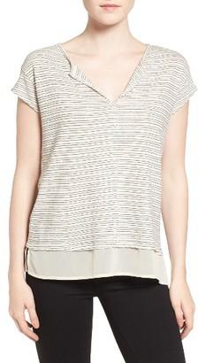 Women's Sanctuary City Remix Stripe Linen & Cotton Tee $49 thestylecure.com