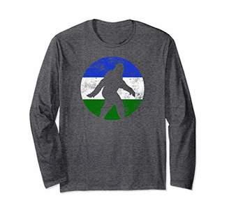 Bigfoot Long Sleeve T-shirt Sasquatch Cascadia Flag Doug PNW