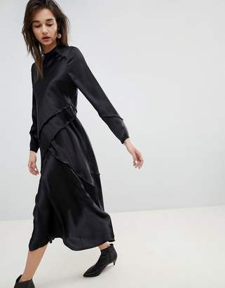 Asos Long Sleeved Silk Dress