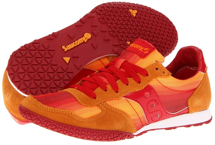 Saucony Bullet Ombre (Orange/Red) - Footwear