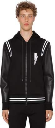 Neil Barrett Hooded Bolt Sweatshirt Jacket