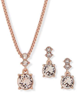 Gloria Vanderbilt Womens Rose Tone 2-pc. Jewelry Set