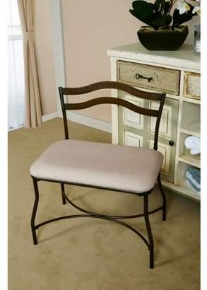 "Hillsdale Furniture, Windsor 26.5"" Vanity Stool, Burnished Bronze Finish"