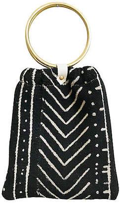 Gaia Rosetta Handbag - Black/White