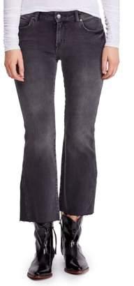 Free People Rita Raw Edge Crop Flare Jeans