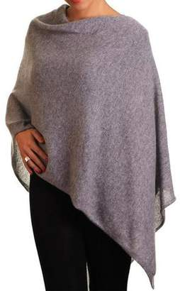 Black Warm Grey Knitted Cashmere Poncho