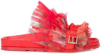 Alexander McQueen frill lace slides