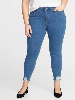 Old Navy High-Waisted Secret-Slim Pockets + Waistband Rockstar Plus-Size Super Skinny Ankle Jeans