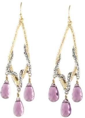 Alexis Bittar Maldivian Amethyst & Crystal Chandelier Earrings