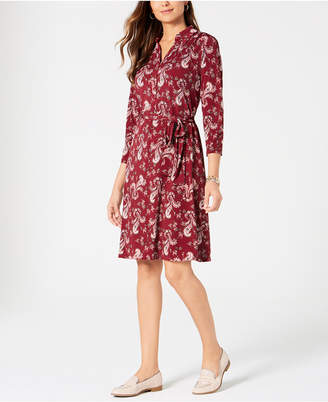 Charter Club Petite Printed Polo Shirtdress