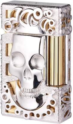 S.t. Dupont Gold-Trim Rhodium Mythic Skull Lighter