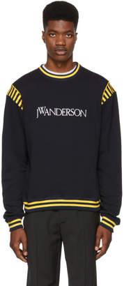 J.W.Anderson Navy Logo Varsity Sweatshirt