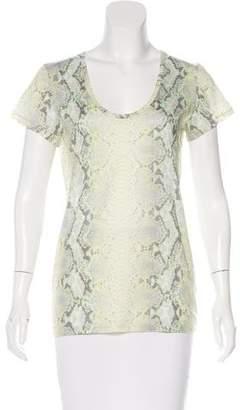 Barbara Bui Printed Short Sleeve Top