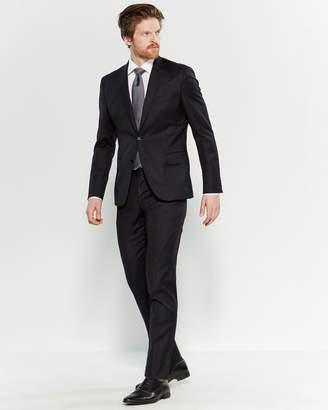 Roberto Cavalli Two-Piece Black Tonal Stripe Slim Fit Suit