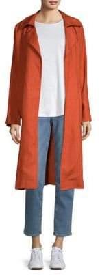 Eileen Fisher Organic Linen Trench Coat