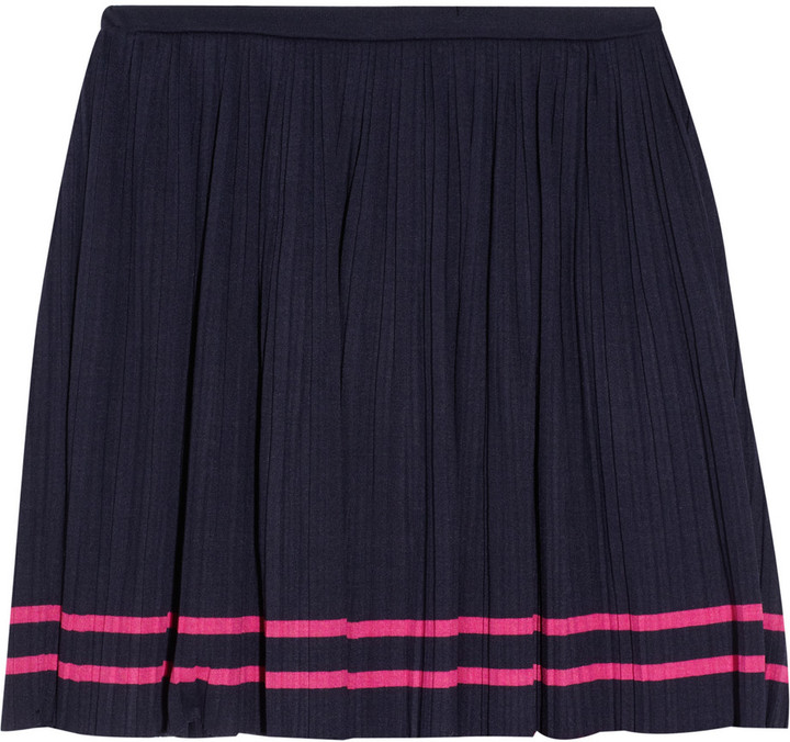 Juicy Couture Pleated jersey mini skirt