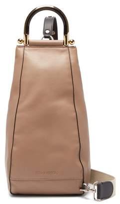 J.W.Anderson Wedge Leather Shoulder Bag - Womens - Beige