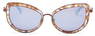 Wildfox Couture Women's Chaton Deluxe Cat Eye 55mm Plastic & Metal Frame Sunglasses