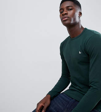 Jack Wills Jameson muscle fit long sleeve t-shirt in dark green