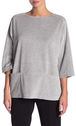 Lafayette 148 New York Velour Pouch Pocket Pullover