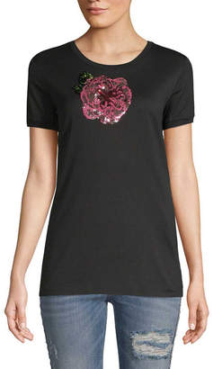 Dolce & Gabbana Sequined Graphic T-Shirt