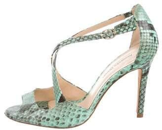 Alexandre Birman Snakeskin High-Heel Sandal