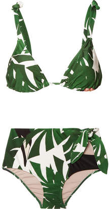 Adriana Degreas - Printed Triangle Bikini - Green