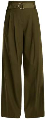 Diane von Furstenberg High-rise wide-leg stretch-wool trousers