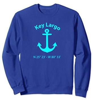 Key Largo Nautical Coordinates Anchor Sweatshirt For Sailors