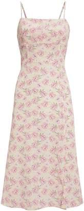 Intermix Olivia Printed Silk Dress