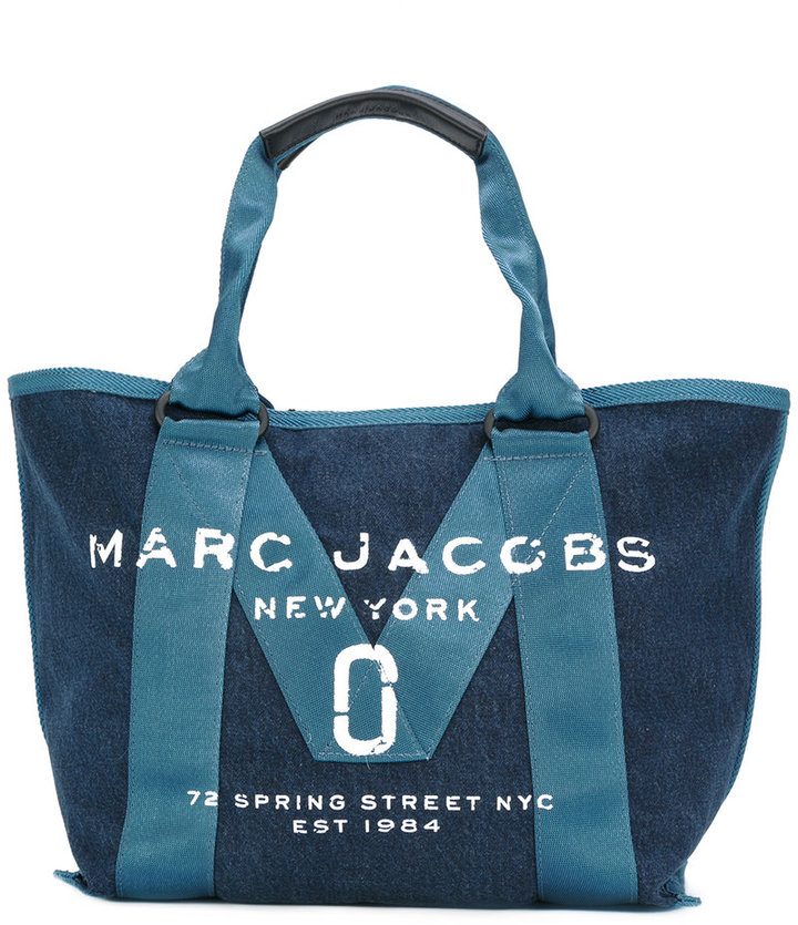 Marc Jacobs Marc Jacobs logo stitch panel tote