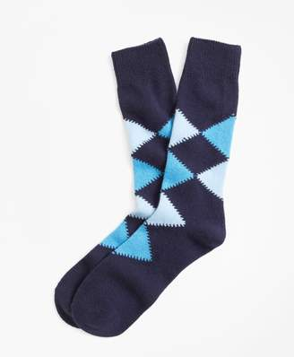 Brooks Brothers Cashmere Argyle Crew Socks