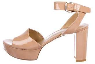 Stuart Weitzman Patent Leather Ankle Strap Sandals