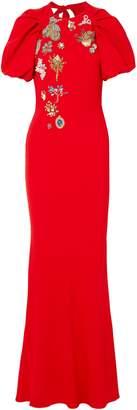 Alexander McQueen (アレキサンダー マックイーン) - アレキサンダー・マックィーン 装飾付き カットアウト クレープ マキシワンピース